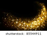 Golden Glitter Trail With Star...