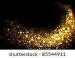 golden glitter trail with stars ... | Shutterstock . vector #85544911