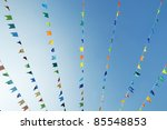 flags of different colors... | Shutterstock . vector #85548853