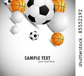 background with ball | Shutterstock .eps vector #85552192
