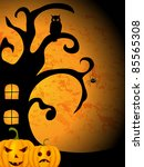 vector halloween picture | Shutterstock .eps vector #85565308