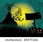 halloween dark scene with...