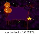 spooky halloween background... | Shutterstock .eps vector #85575172
