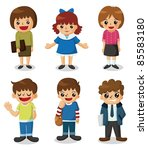 cartoon student icon | Shutterstock .eps vector #85583180