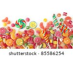 mixed colorful fruit bonbon... | Shutterstock . vector #85586254