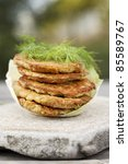 potato pancakes on stone - stock photo