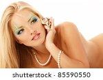 portrait of teenager girl... | Shutterstock . vector #85590550