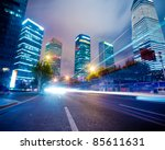 the night view of the lujiazui... | Shutterstock . vector #85611631