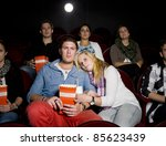 young couple at the movie... | Shutterstock . vector #85623439
