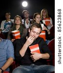 young man at the movie theater... | Shutterstock . vector #85623868