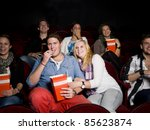 young couple at the movie... | Shutterstock . vector #85623874