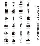 set of 21 black web icons | Shutterstock .eps vector #85624186