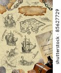 pirate map | Shutterstock . vector #85627729