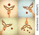 Four Funny Christmas Reindeer...