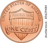 American Money  One Cent Coin...