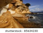 Painted Cliff Formation On...