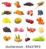 collection of  berry and fruits ... | Shutterstock . vector #85637893