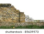 old isolated broken wall with... | Shutterstock . vector #85639573