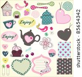 lovely element set   Shutterstock .eps vector #85654342