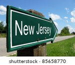 New Jersey Signpost Along A...