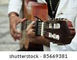 Man Playing The Spanish Guitar
