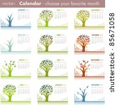Calendar pages isolated on white. 2012 VECTOR - stock vector