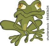 the green toad. cartoon | Shutterstock . vector #85683634