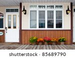 flowers under the windows | Shutterstock . vector #85689790