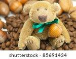 Teddy Bear With A Bow  Coffee...