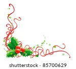 christmas holly decoration.... | Shutterstock .eps vector #85700629