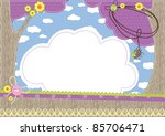 baby background. contains used... | Shutterstock .eps vector #85706471