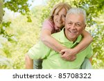 portrait of happy senior man... | Shutterstock . vector #85708322