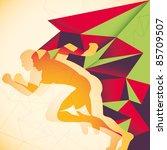 abstraction with runner. vector ... | Shutterstock .eps vector #85709507