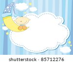 blue cartoon background with a... | Shutterstock . vector #85712276