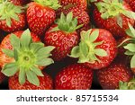 beautiful strawberries texture... | Shutterstock . vector #85715534