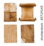 collection of grunge papers | Shutterstock . vector #85719145