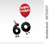 funny birthday card | Shutterstock .eps vector #85722517