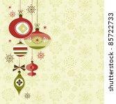retro christmas ornaments   Shutterstock .eps vector #85722733