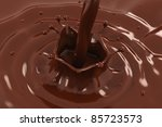 pouring chocolate  making...   Shutterstock . vector #85723573