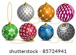 Colorful Vector Christmas and new year decoration bauble
