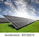 solar energy panels against sky | Shutterstock . vector #85728373
