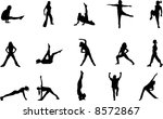 workout silhouettes | Shutterstock .eps vector #8572867