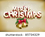 merry christmas. elements are... | Shutterstock .eps vector #85734329