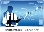 business analyst think about... | Shutterstock .eps vector #85734779