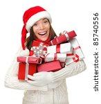 Santa Hat Christmas Woman...