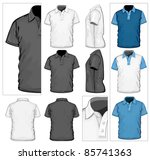 Vector. Men's Polo Shirt Desig...
