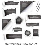 torn paper set | Shutterstock .eps vector #85746439