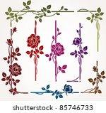 Set Of Floral Elements For...