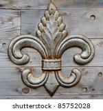 Tin Fleur De Lis Detail