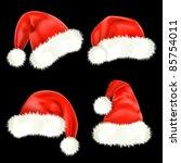 santa claus caps. mesh. | Shutterstock .eps vector #85754011